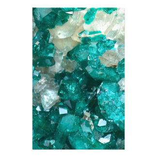 Teal Rock Candy Quartz Stationery