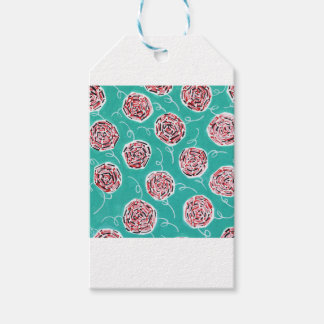 Teal Rose Pattern Gift Tags