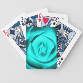 Teal Rose Playing Cards