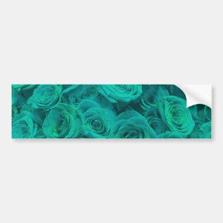 teal roses bumper sticker