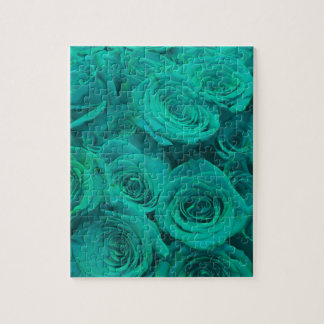 teal roses jigsaw puzzle