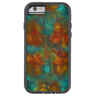 Teal, Rust, Kaleidoscope Pattern Tough Xtreme iPhone 6 Case