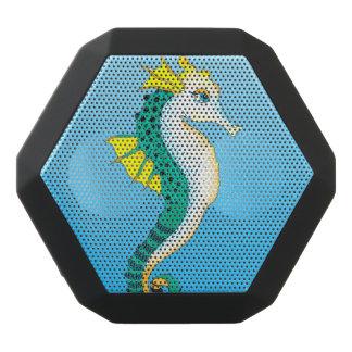 teal seahorse blue black bluetooth speaker