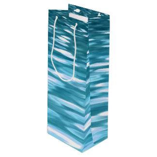 Teal shimmer wine gift bag