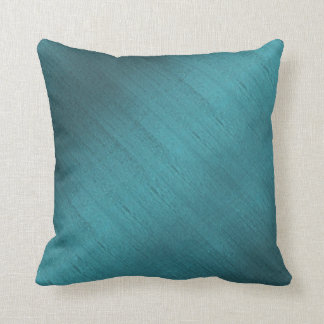 Teal Silk Throw Pillow