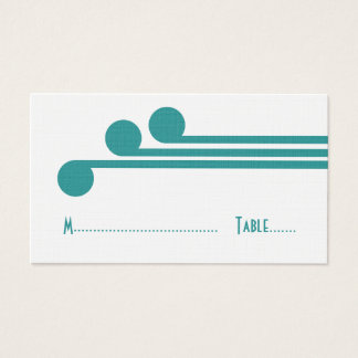 Teal Simple Deco Chic Place Card
