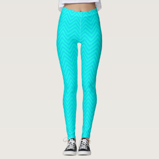 Teal Sky Blue Leggings