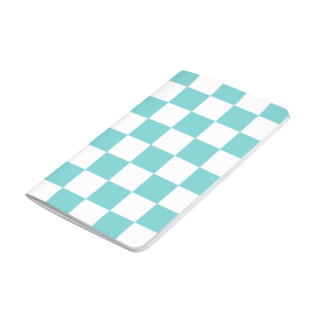 Teal Sky Checkerboard Pattern Journal