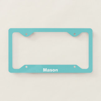 Teal Sky Personalized License Plate Frame