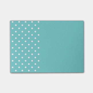 Teal Sky Polka Dot Post It Notes
