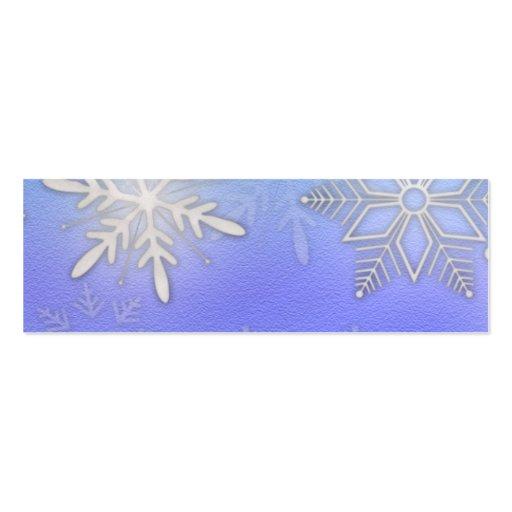 Teal Snowflake Bracket Winter Wedding Drink Ticket Business Cards