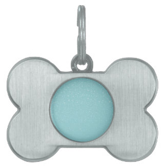 Teal  Snowy Warm Winter Wonderland Pet ID Tag