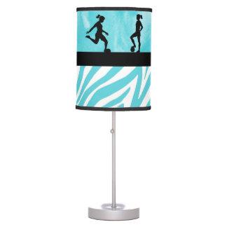 Teal Soccer Silhouette Lamp
