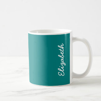Teal Solid Color Coffee Mug