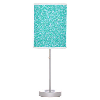 Teal Speckled Table Lamp
