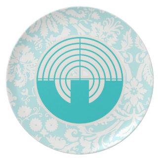 Teal Sport Shooting Plate
