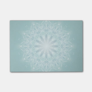 Teal Star Mandala Post-it Notes