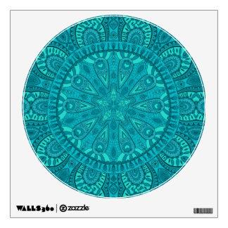 Teal Starburst Design Wall Sticker