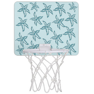 Teal Starfish Mini Basketball Hoop