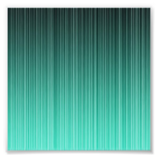 Teal Striped Photographic Print