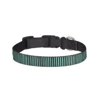 Teal Stripes Pattern Pet Collar