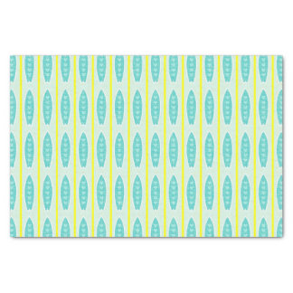 Teal Surfboards Pattern Tissue Paper