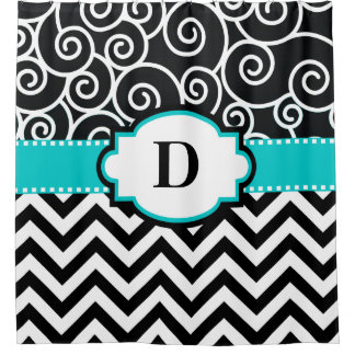Teal Swirl Chevron Personalized