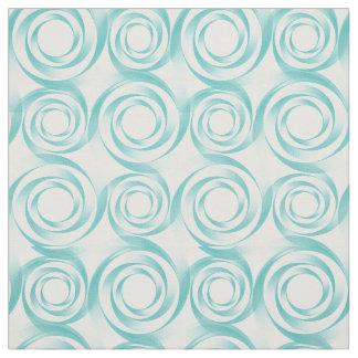Teal Swirl Vortex Fabric