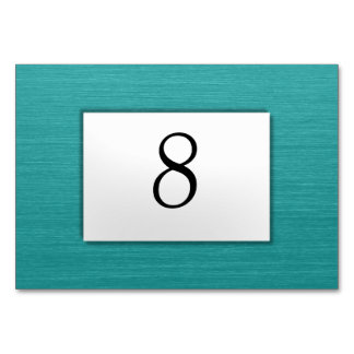 Teal Table Number Table Cards