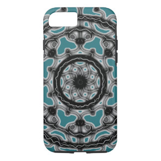 Teal ~Tech~Lace~ Spring denim blossom ~ Case-Mate iPhone Case