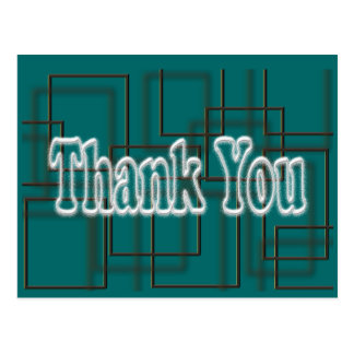 Teal Thank You Postcard- change background color Postcard