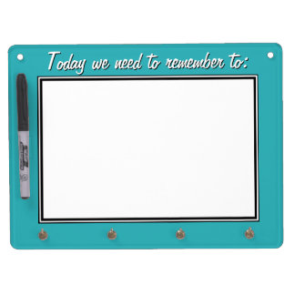 Teal To-Do Dry Erase Board with Keychain Holder