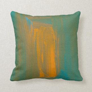 Teal to Orange Throw Pillow