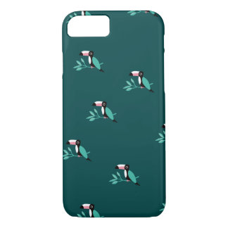 Teal toucan birds tropical paradise pattern iPhone 8/7 case
