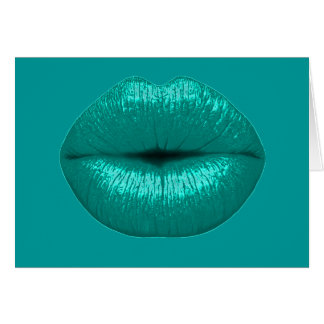 TEAL TOUCH LIPSTICK MAKEUP BEAUTY FASHION SALON LI CARD