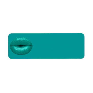 TEAL TOUCH LIPSTICK MAKEUP BEAUTY FASHION SALON LI RETURN ADDRESS LABEL