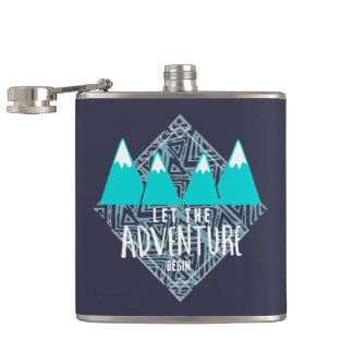 Teal Travel Let the Adventure Begin Camping Flasks