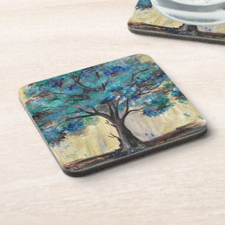 Teal Tree Coaster