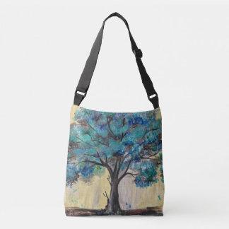 Teal Tree Crossbody Bag