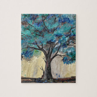Teal Tree Jigsaw Puzzle