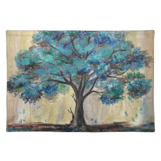 Teal Tree Placemat
