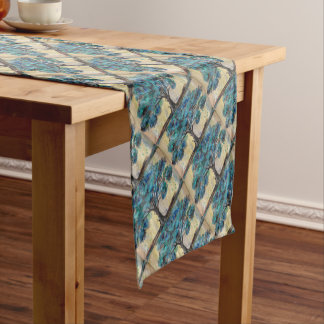 Teal Tree Short Table Runner