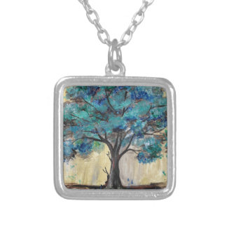 Teal Tree Silver Plated Necklace