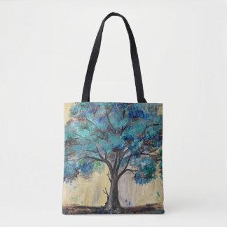 Teal Tree Tote Bag