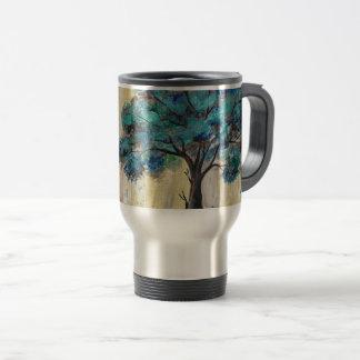 Teal Tree Travel Mug