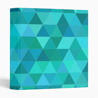 Teal triangle pattern binders