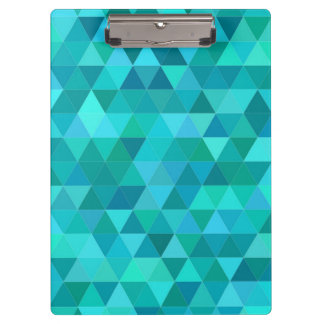 Teal triangle pattern clipboard