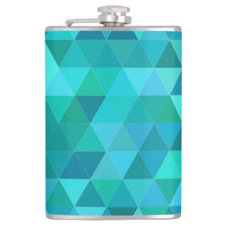 Teal triangle pattern flasks