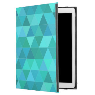 "Teal triangle pattern iPad pro 12.9"" case"