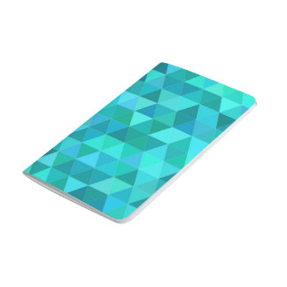 Teal triangle pattern journals